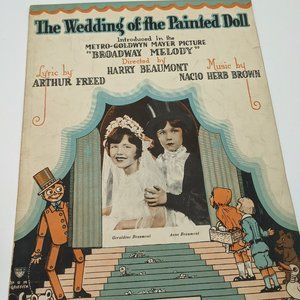 Wedding of the Painted Doll sheet music - 1919